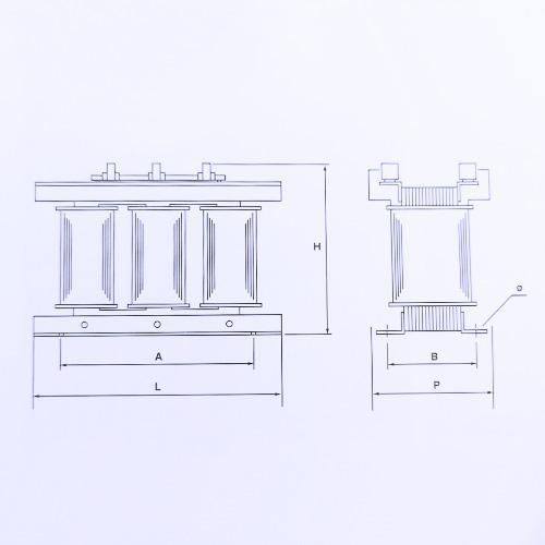 Schéma transformateurs de 25 KVA à 50 KVA