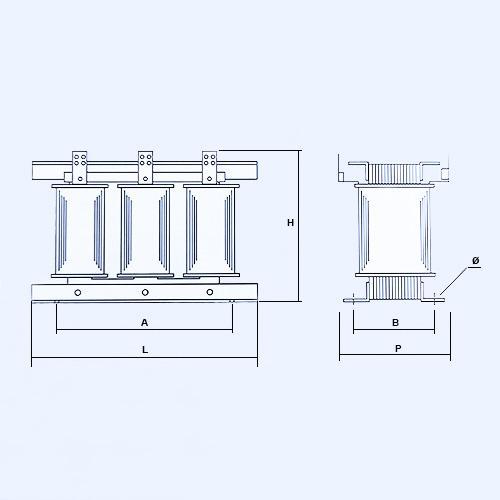 Schéma transformateurs de 250 KVA à 800 KVA