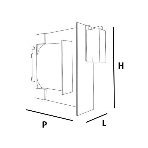 Dimension du T-MODUL 230/12 V